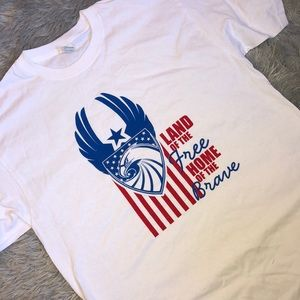 Other - Land of the Free, Home of the Brave Tee Shirt